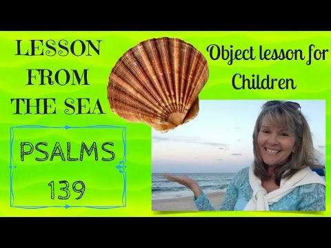 OBJECT LESSON FROM THE SEA (Psalm 139) Family Devotion and Children's Ministry
