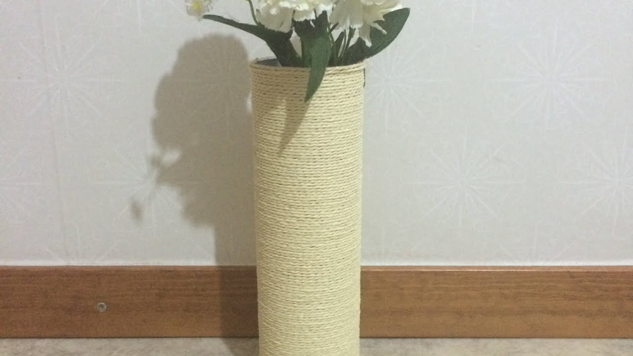 How to make a cheap and pretty flower vase diy home tutorial how to make a cheap and pretty flower vase diy home tutorial guidecentral youtube reviewsmspy