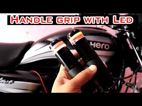 handle grip with light
