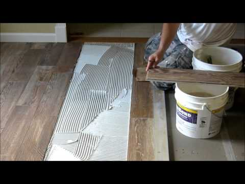 Rochester Custom Tile & Marble  | Natural Timber Porcelain Tile is Down
