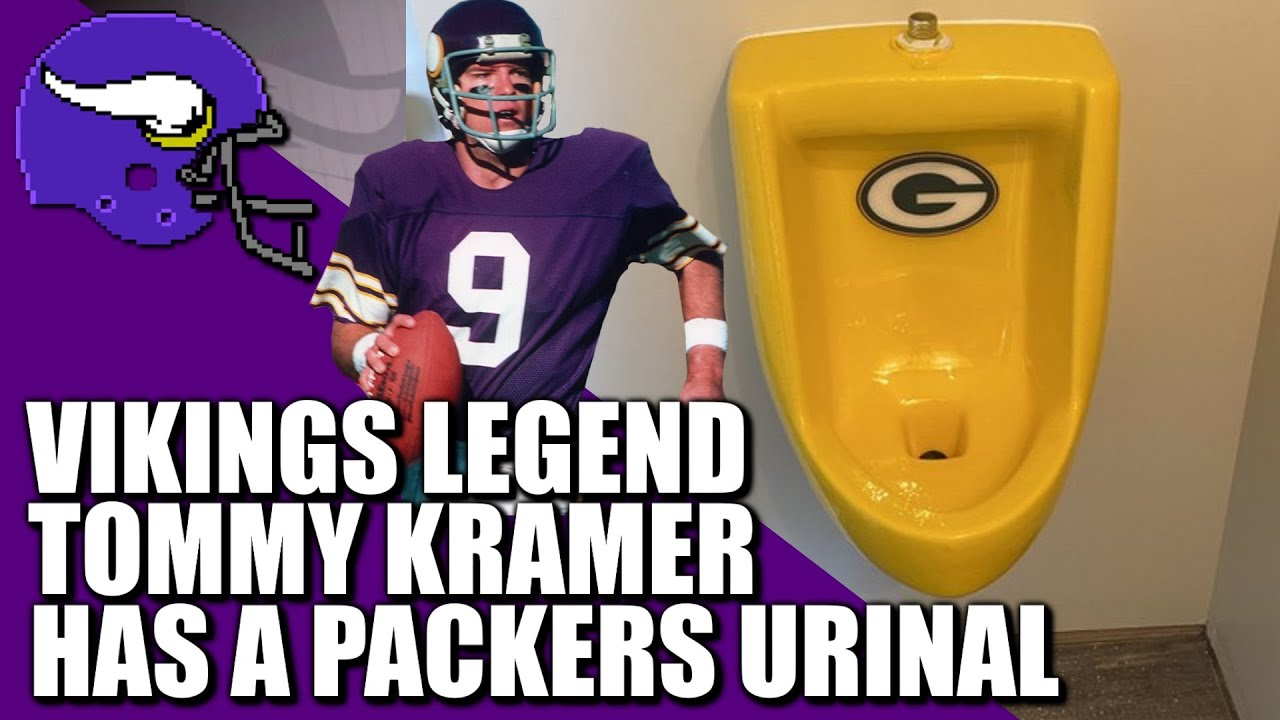 Vikings Legend Tommy Kramer Has A Packers Urinal Youtube