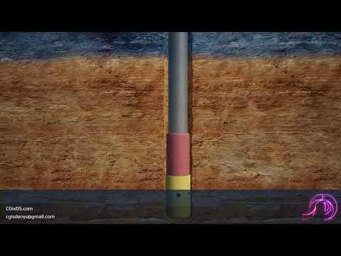 Technical animation: Borehole drilling