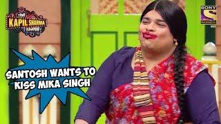 Santosh Is All Set To Kiss Mika Singh - The Kapil Sharma Show