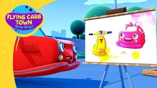 Max the painter | Flying Cars Town |  Drawing for Kids | Cartoons for kids