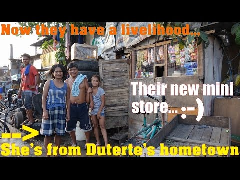 Travel to Manila Philippines and Meet Maria from the Province of DAVAO. The Slums in Manila