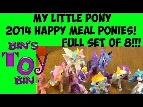 My Little Pony 2014 Happy Meal FULL SET Of 8 Rainbow Power Ponies Review! By Bin's Toy Bin