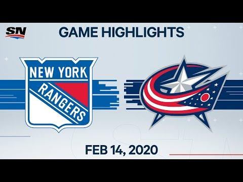 NHL Highlights | Rangers Vs. Blues Jackets – Feb. 14, 2020