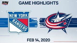 NHL Highlights   Rangers vs. Blues Jackets – Feb. 14, 2020