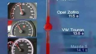 Opel Zafira vs Mazda5 vs VW Touran