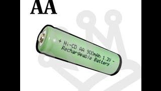 Обзор AA 2A 900mah Ni-Cd аккумулятор 1.2 V зеленый