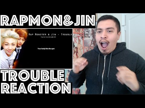 BTS RAP MONSTER & JIN TROUBLE REACTION