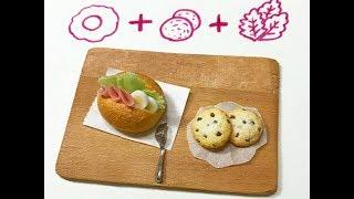 黏土教學 Clay tutorial 火腿蛋堡 Ham Egg bun(影片訊息裡有抽獎資訊喔♡)