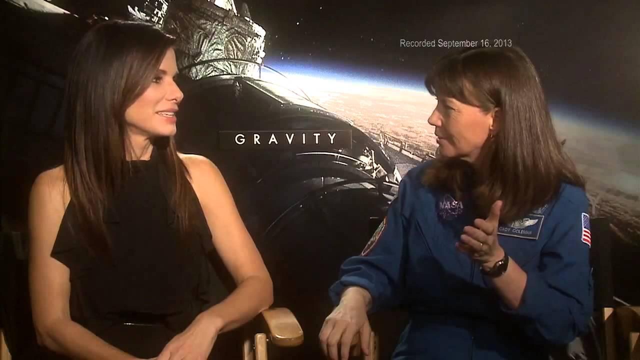 astronaut encounters actor sandra bullock talks with cady
