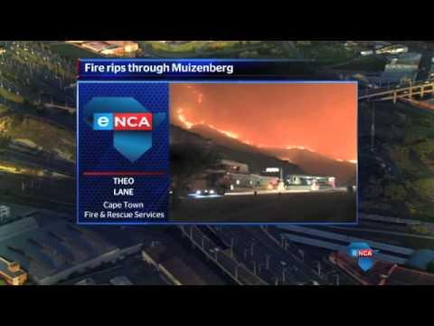 Evacuations, water bombs for Muizenberg blaze