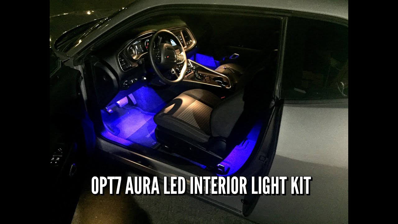 how to install interior led lights opt7 aura kit dodge challenger youtube. Black Bedroom Furniture Sets. Home Design Ideas