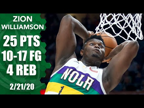 Zion Williamson's tear continues with 25 points in Pelicans vs. Blazers | 2019-20 NBA Highlights