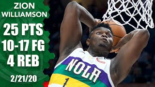 Zion Williamson's Tear Continues With 25 Points In Pelicans Vs. Blazers | 2019 20 Nba Highlights