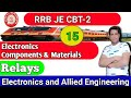 Class-15 | RRB JE CBT-2 | Relays | Electronics Component and Material | Exam Guru