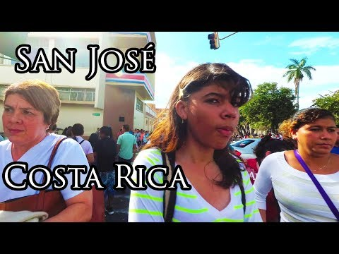 Costa Rica 2017 - (4) Streets of San Jose - Central Ave 4K