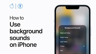 How to use backġround sounds on iPhone   Apple Support