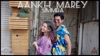 Aankh Marey| Simbba| Dance Choreography by Yukti Arora ft. Abhijeet Chaturvedi |