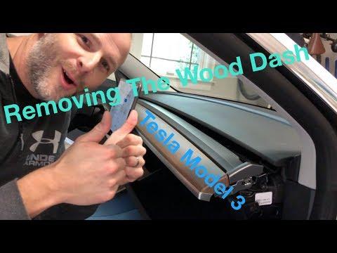 Custom Model 3 Wood Dash