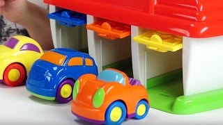 Поиграйка с Егором - Домик чемоданчик - гараж для машинок