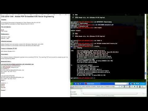 CVE-2010-1240 : Adobe PDF Embedded EXE Social Engineering