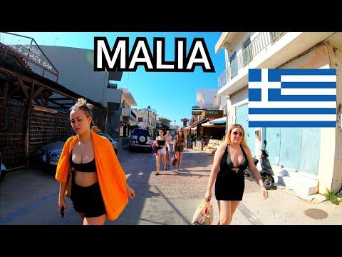 ⁴ᴷ MALIA Walking Tour, Crete, Greece 4K 🇬🇷 2019