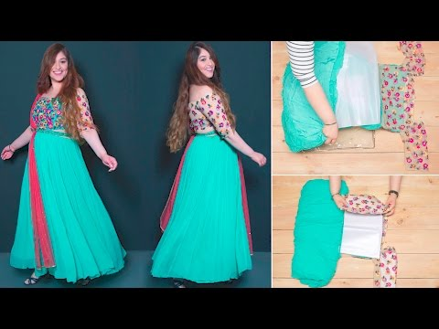How To Fold Your Anarkali Perfectly   Glamrs.com