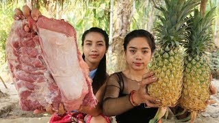 Yummy cooking pork ribs with pineapple recipe - Cooking skill