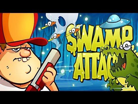 Мультик игра для детей Swamp Attack # смотреть игру как мультик #Атака на болоте 1 часть