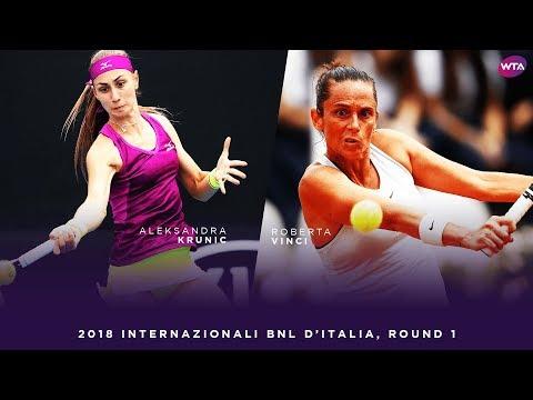 Aleksandra Krunic vs. Roberta Vinci | 2018 Internazionali BNL d'Italia First Round | WTA Highlights