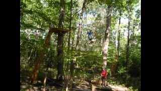 Tarzan Rope Swing at TreeTop Trekking, Huntsville Muskoka