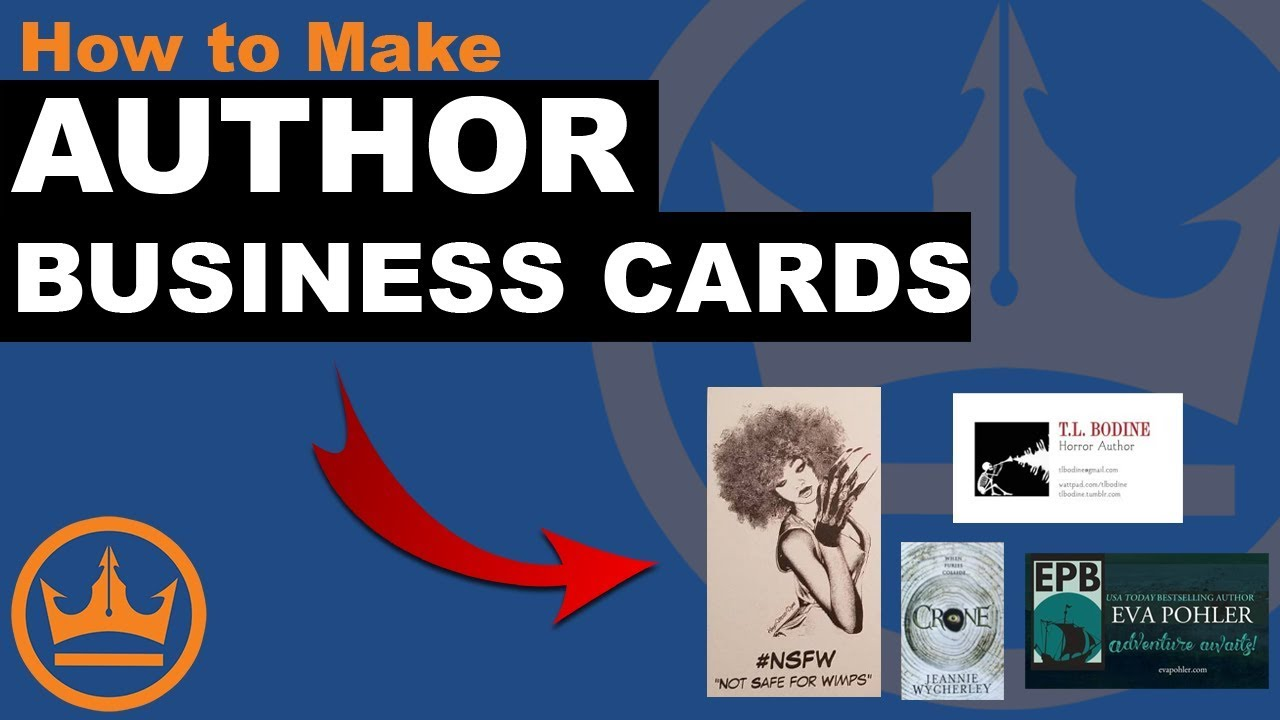 Author Business Cards 101: How to Design and Create Professional Cards