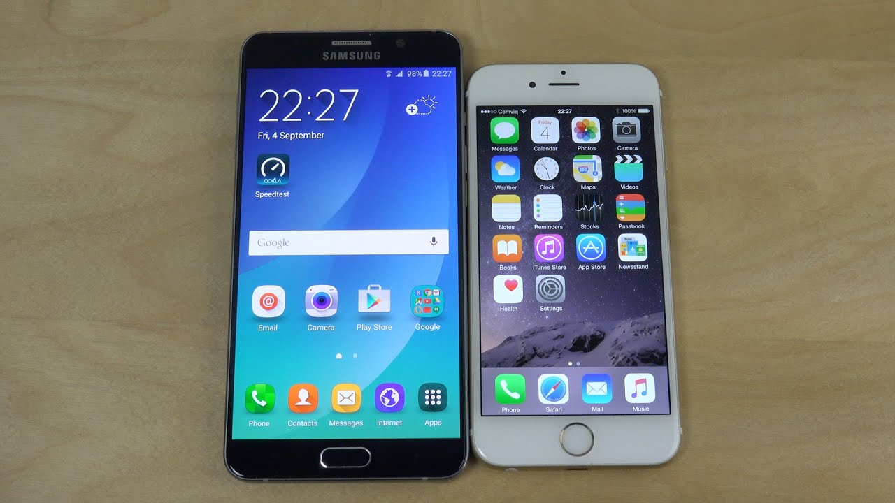 Samsung galaxy note 5 vs iphone 6