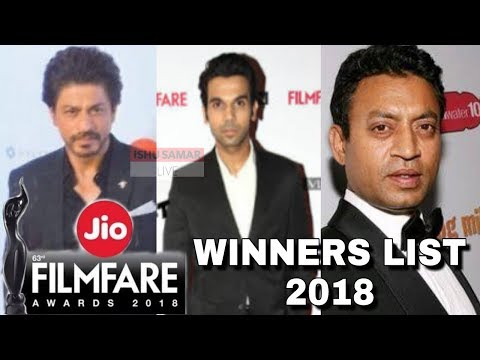 Jio Filmfare Awards 2018 - FULL WINNERS LIST - Best Actor, Best Actress...