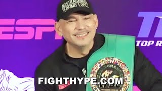 "TEOFIMO LOPEZ SR. POST-FIGHT AFTER ""WHOOPIN"" LOMACHENKO; TALKS ""NOSTRADAMUS"" WIN & WHAT'S NEXT"