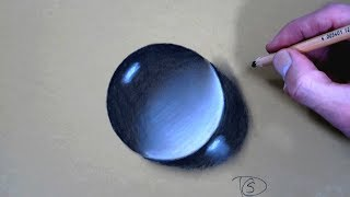 How to Draw a Water Drop With Dry Pastel pencils