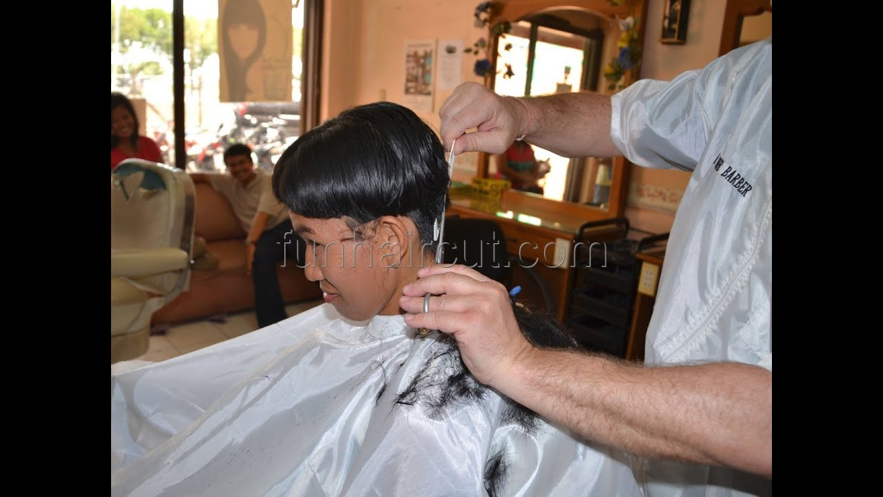 Girls Boyish Barbershop Haircut Youtube