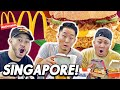 Breakfast & Lunch at SINGAPORE MCDONALDS! | Fung Bros