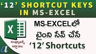 12 Ms-Excel Shortcuts in Telugu || Time Saving Tricks || www.computersadda.com ||