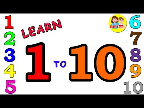 Learn Numbers 1 To 10 | Number And Colors Learning Video For Kids