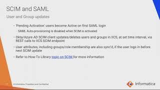 SCIM Configuration in IICS Admin