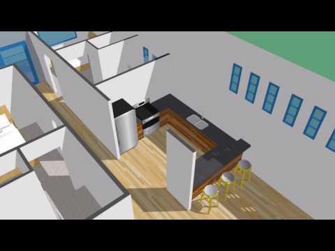 Modern duplex concept interior layout