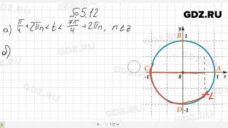 № 5.12- Алгебра 10-11 класс Мордкович