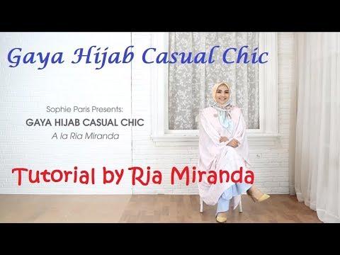 Tutorial hijab Gaya Casual  ala Ria Miranda by  Sophie Martin Paris - YouTube
