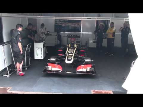 Lotus F1 playing Russian anthem by engine Moscow City Racing 2013