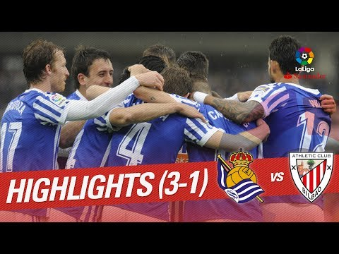 Resumen de Real Sociedad vs Athletic Club (3-1)