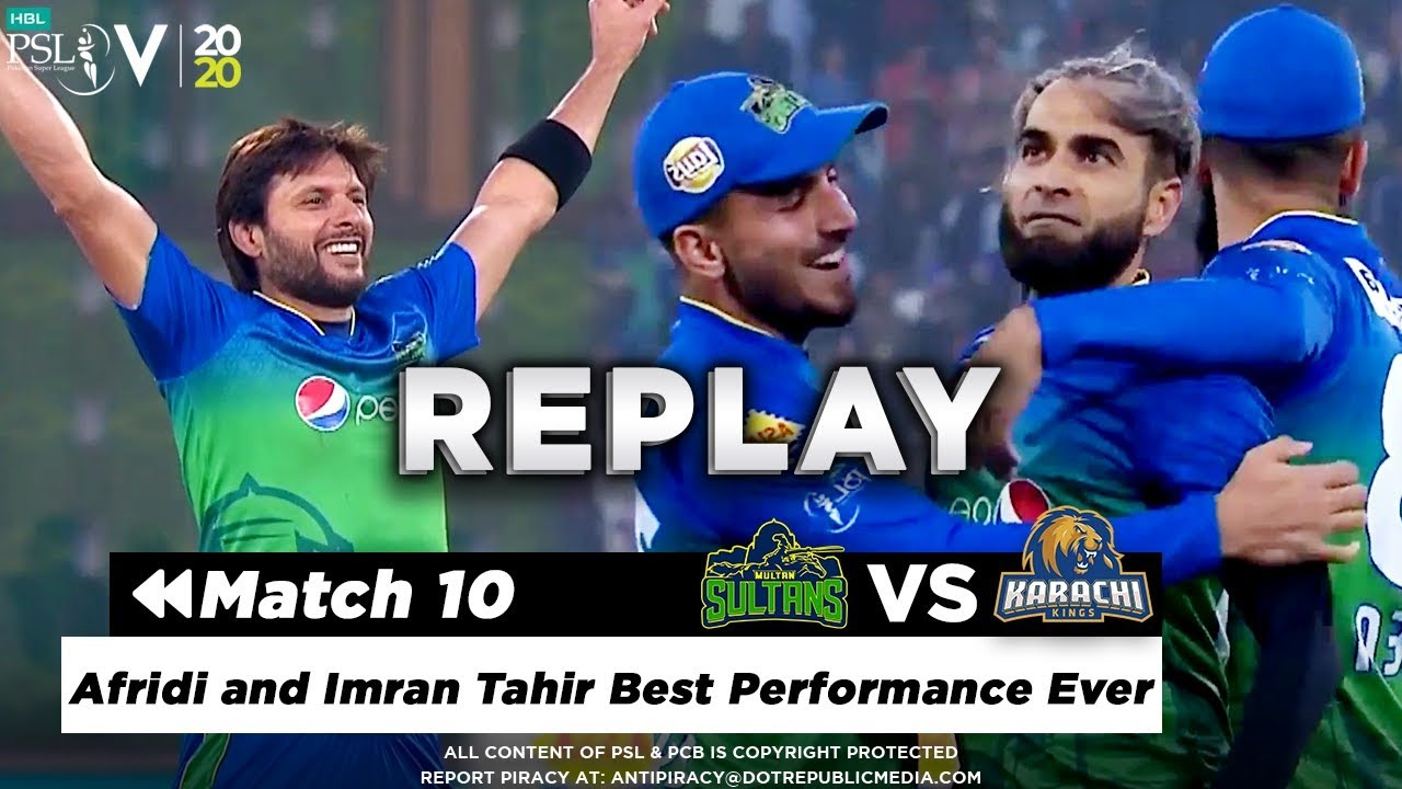 Afridi and Imran Tahir Best Performance Ever | Multan Sultans vs Karachi Kings | Match 10 | HBL PSL